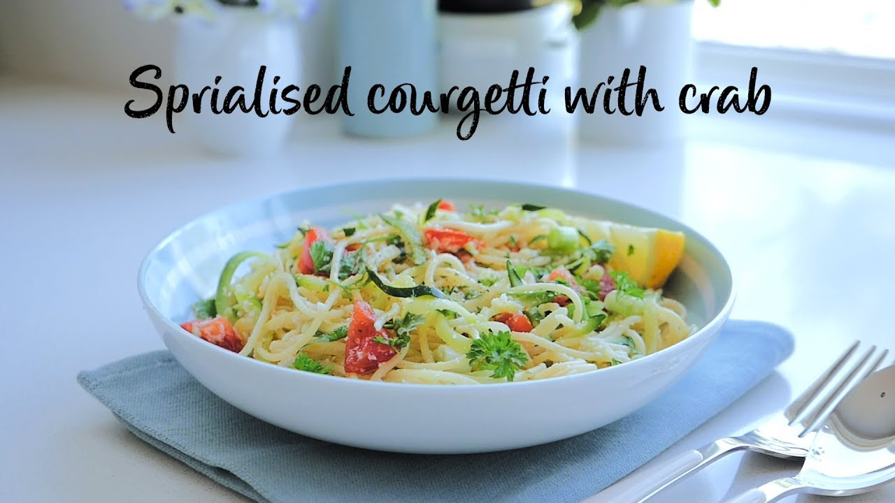 Slimming World Syn Free Spiralised Courgetti With Crab Free