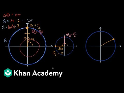 Distance or arc length from angular displacement | AP Physics 1 | Khan Academy