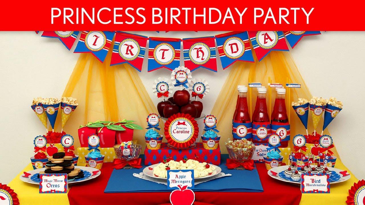 Snow White Birthday Party Ideas Snow White Princess B25 Youtube