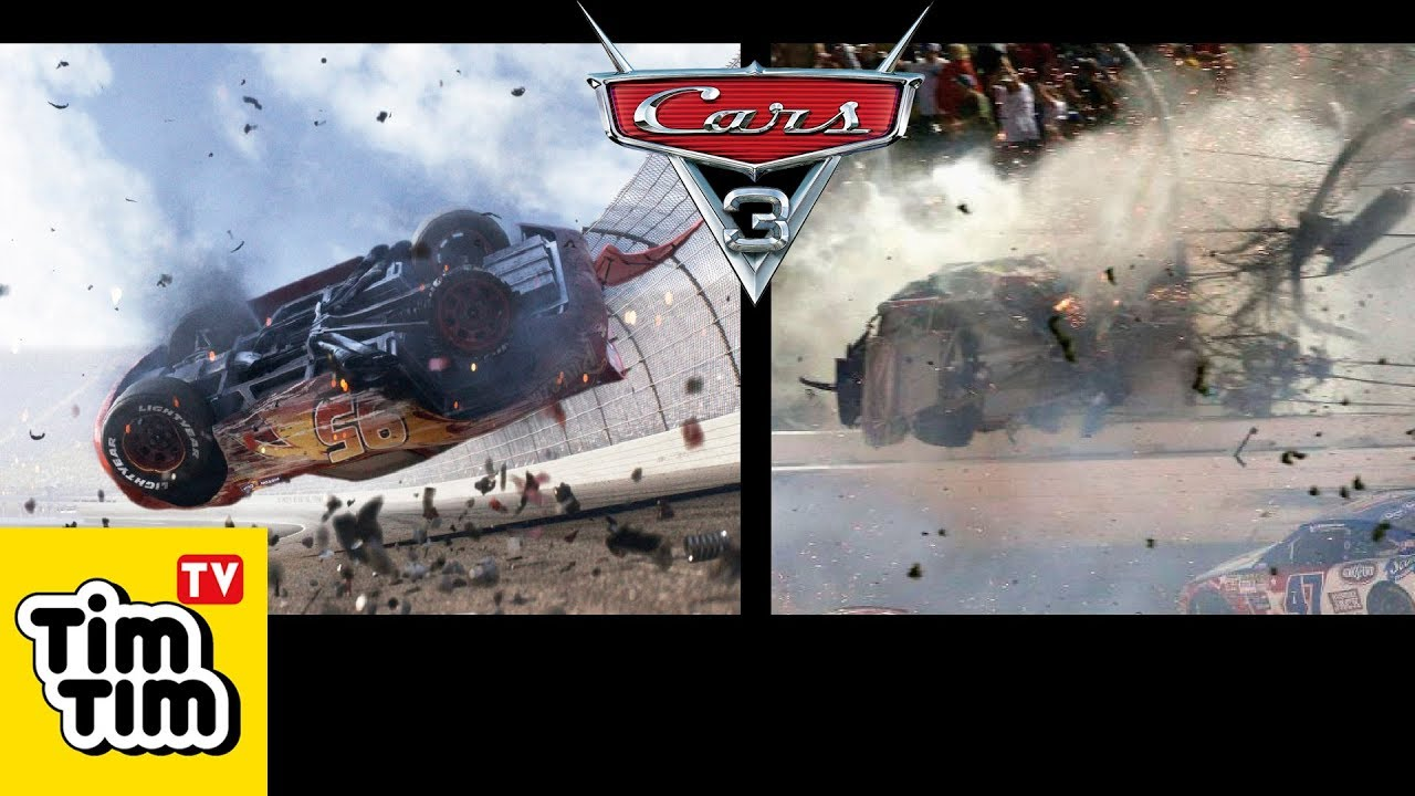 Cars 3 Lightning Mcqueen Crash In Real Life Characters In Real