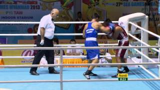 27th SEA GAMES MYANMAR 2013 - Boxing 13/12/13