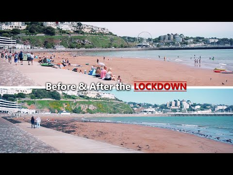 Before & After the Coronavirus Lockdown in the UK - Torquay, Devon - Day 1