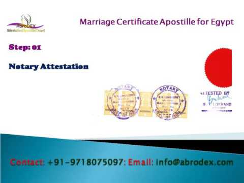 Marriage Certificate Apostille for Egypt