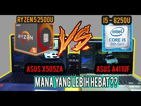PERANG LAPTOP PLUS #GIVEAWAY.. ! Ryzen 5 2500u vs Intel I5 - 8250u ! x505za vs a411uf! PEMENANGNYA..