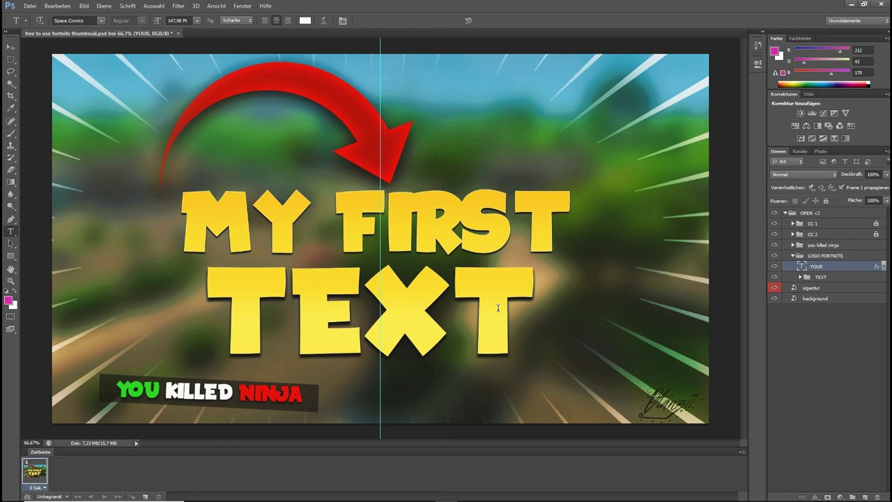 Free To Use Fortnite Thumbnail Templatephotoshoptutorialdownload