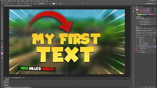 Free to use Fortnite Thumbnail Template[Photoshop][Tutorial][Download]