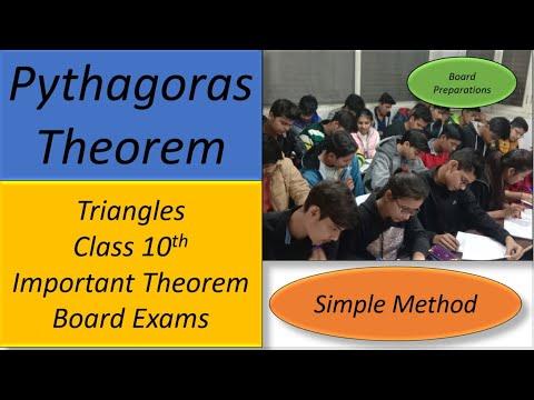 Pythagoras theorem of class 10th.