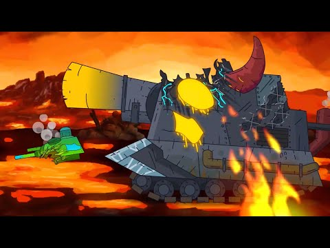 Night battle of tanks in English. Animation about tanks. Monster Truck Cartoon. Xe tăng
