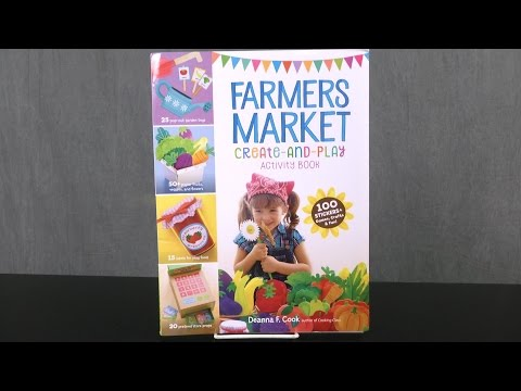 Farmers Market Create-And-Play Activity Book from Storey Publishing
