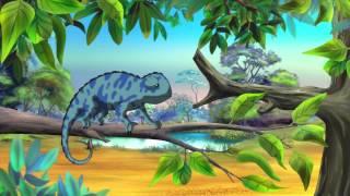 Сказки Африканской саванны - Хамелеон (15 серия) (Уроки тетушки Совы)