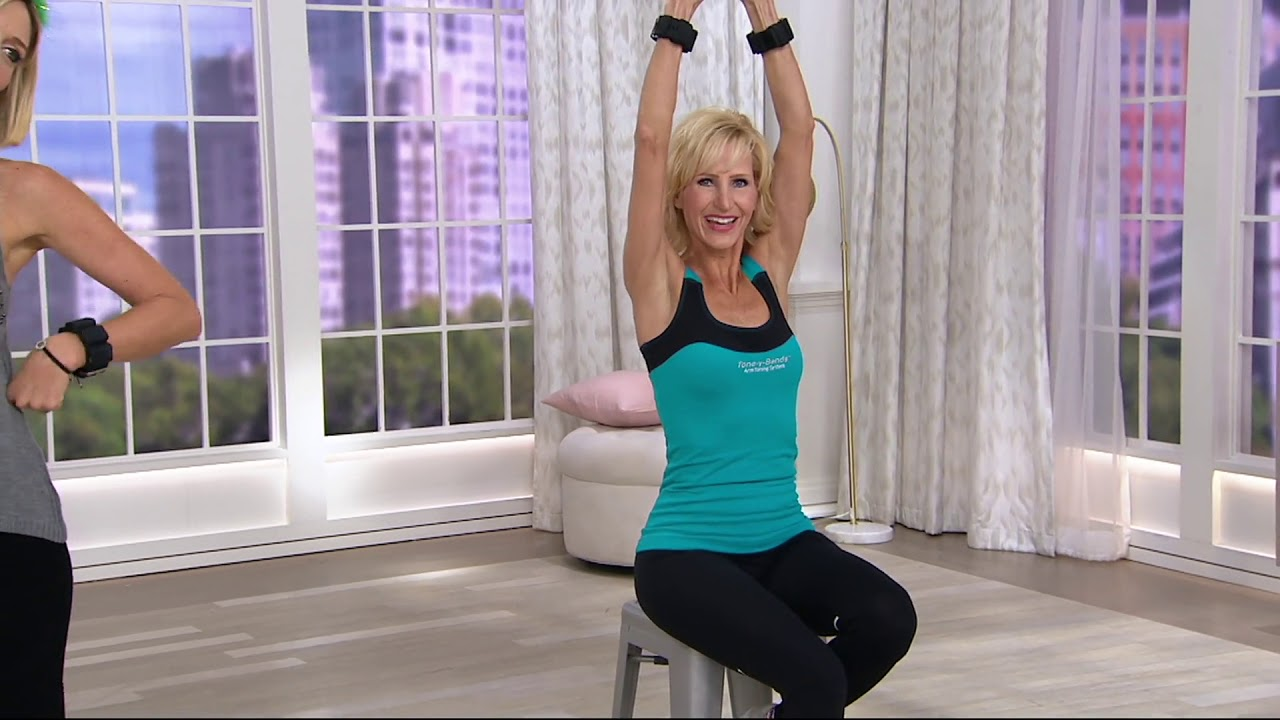 baadcd27850 Tone-Y Bands Cardio 1 lb. Wrist Weights for Arm Toning on QVC - YouTube