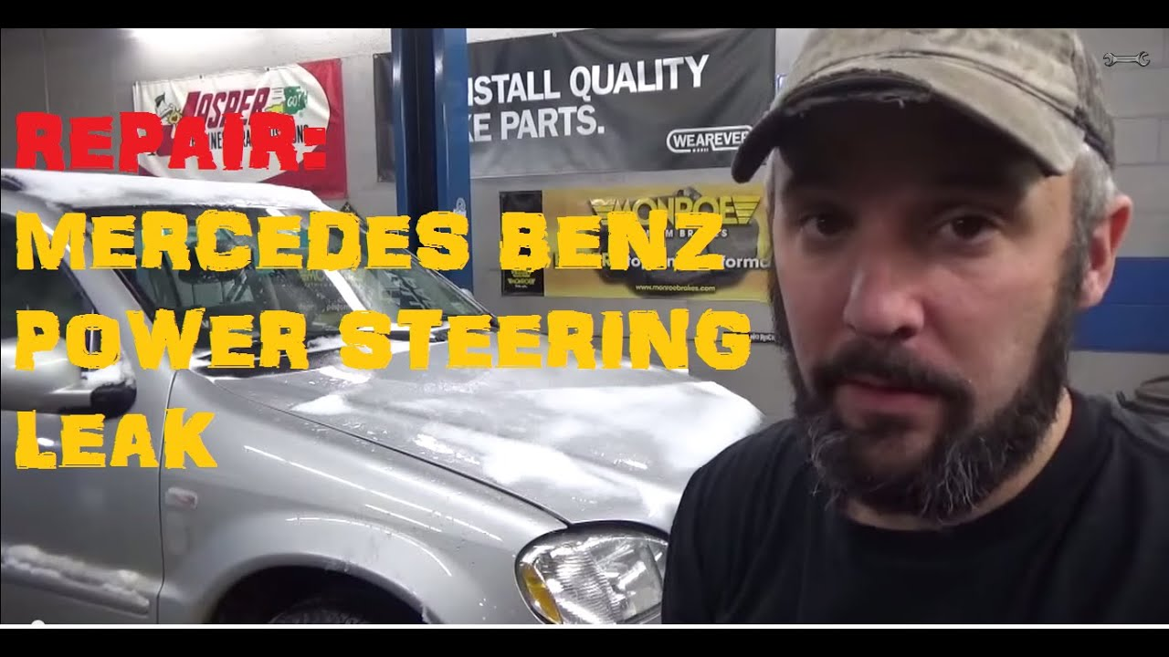 Mercedes Benz Power Steering Leak Youtube W210 Wiring Diagram