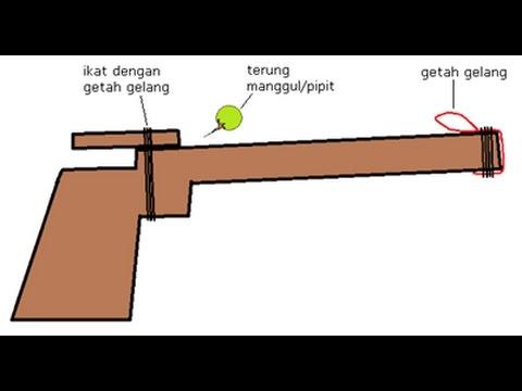 CARA MUDAH BUAT SENAPANG KAYU (Simple way to make shotgun out of woods)