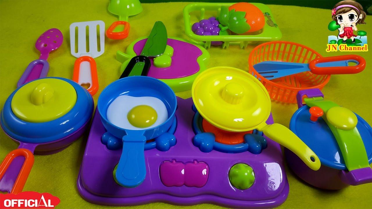 Đồ chơi trẻ em JN Channel  nấu ăn của búp bê Chibi – Đồ chơi nhà bếp búp bê