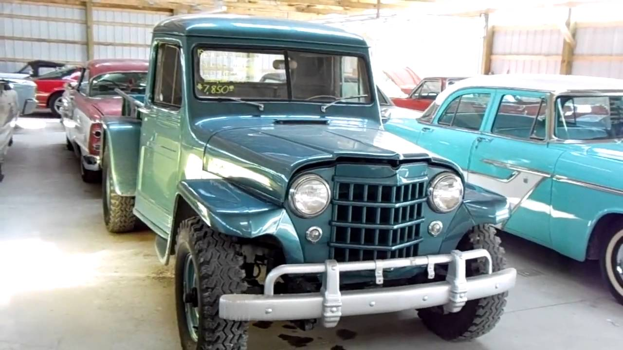 1951 Jeep Willys Pick-up Four Wheel Drive - vintage 4x4 - YouTube