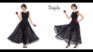 Одежда с алиэкспресс - Платье в стиле ретро из органзы