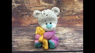 мишка тедди из мастики ( в костюмчике)/how to make a bear teddy cake