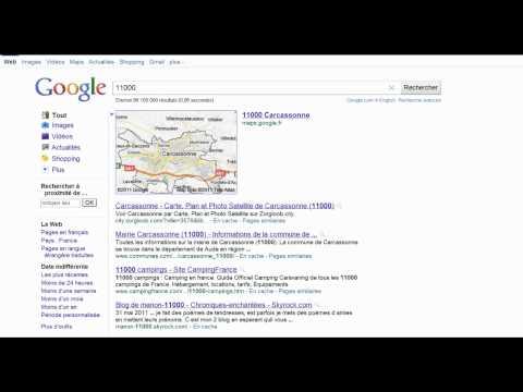 Recherche Google En 15 Secondes : Code Postal