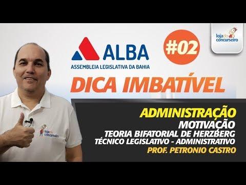 🔵 Dica #02 - ALBA - Questões FGV - Administração - Motivação - Petronio Castro