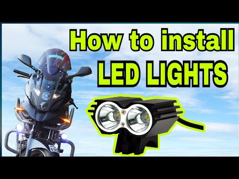 how to install fog lights on any bike | diy mods
