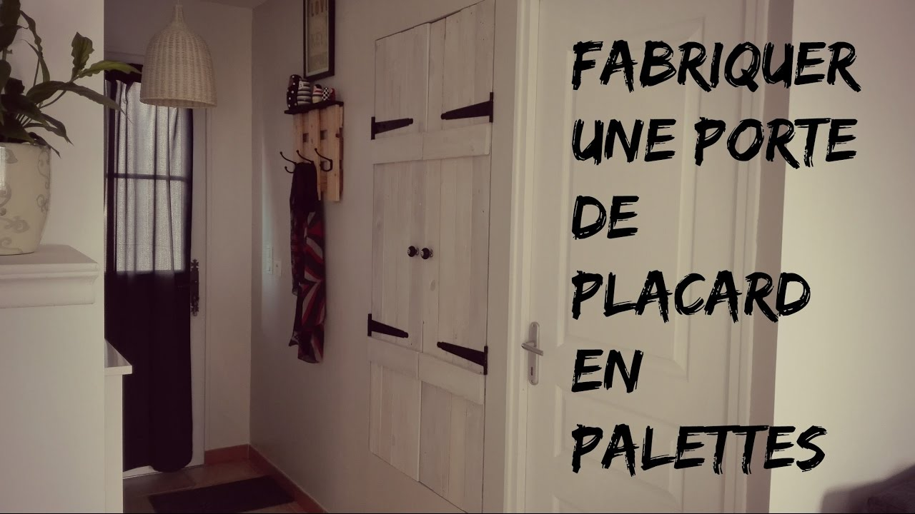 tuto fabriquer une porte de placard en palettes youtube. Black Bedroom Furniture Sets. Home Design Ideas