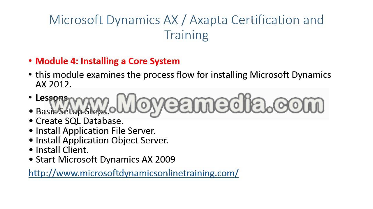 Microsoft Dynamics Axapta Training Institute Youtube
