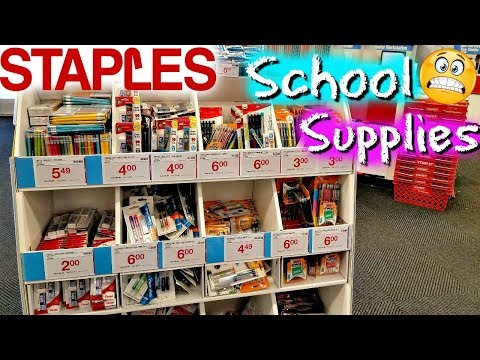 STAPLES BACK TO SCHOOL SUPPLIES SHOPPING WALK THROUGH JULY 2018