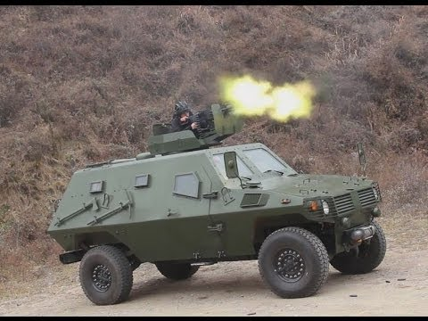 Wolf 4x4 armoured personnel carrier live firing test drive China  Shaanxi Baoji Special Vehicles Man