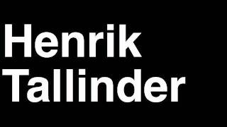 How to Pronounce Henrik Tallinder New Jersey Devils NHL Hockey Player Runforthecube
