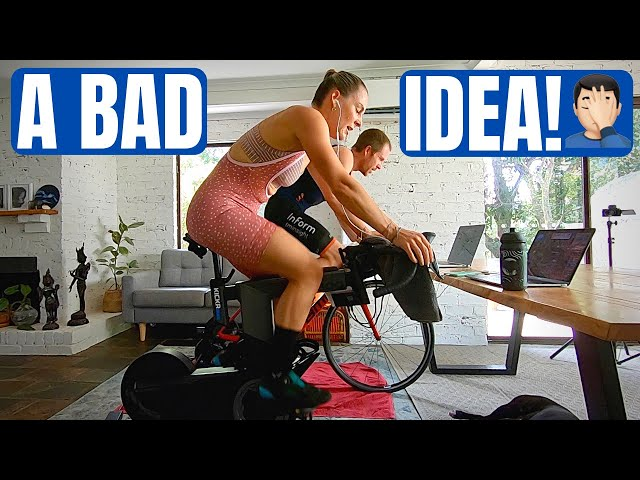 I Raced Against My Wife on Zwift (& Kickr Bike Review)