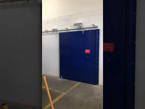 La porte coulissante coupe feu 1 h chantier Todd - 13