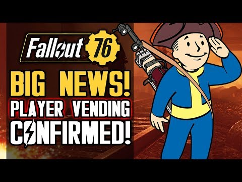 Fallout 76 - Player Vending Officially REVEALED! New 2019 FREE DLC Updates from Bethesda! thumbnail