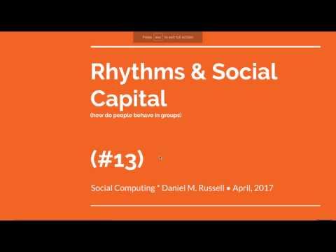 Lecture #13 for Social Computing class (U. Zürich) April 7, 2017