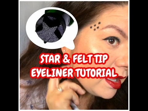 Liquid Eyeliner Star Stamp Tattoo Tutorial Review