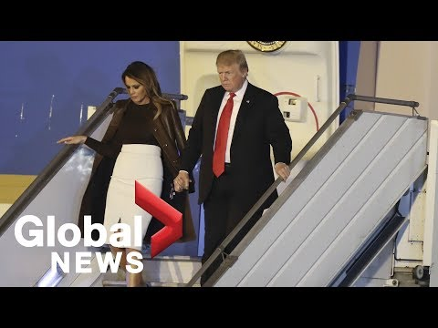 Donald Trump arrives for G20 summit in Argentina
