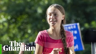 Greta Thunberg leads New York protest for climate change action - watch live