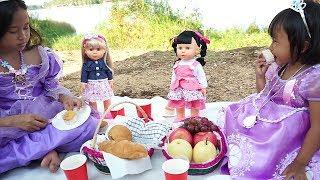 Disney Princess Sophia 💖 Picnic with Baby Doll 💖 Jessica Jenica Mainan Anak Let's Play