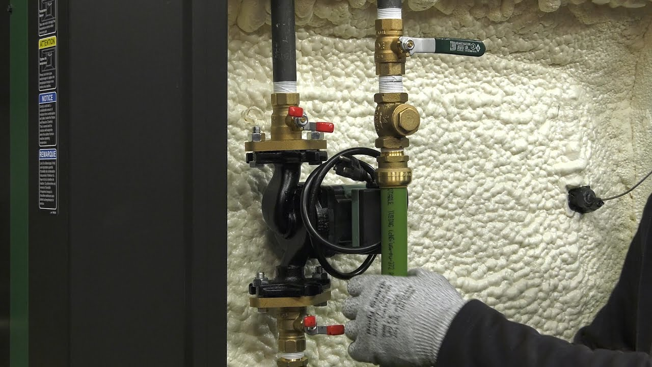easy installation plumb circulator on furnace connect thermopex central boiler [ 1280 x 720 Pixel ]
