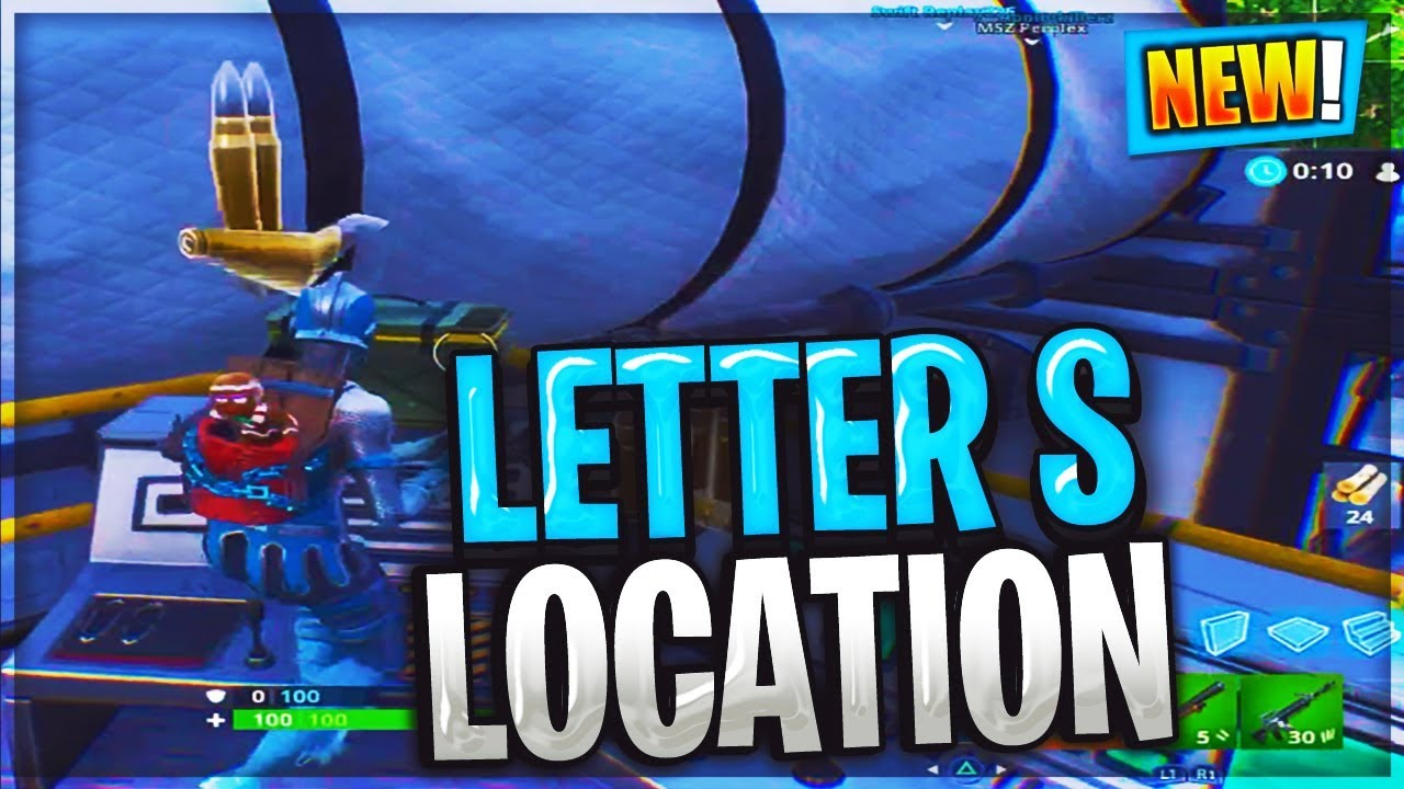 """Search The Letter """"S"""" In Wailing Woods LOCATION Fortnite"""