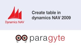 How to create table in dynamics NAV 2009?