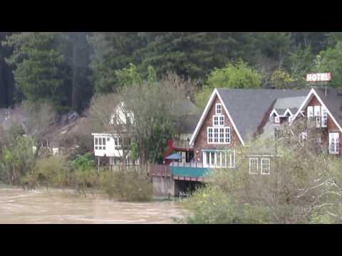 California Flood 2017 The Russian River, Sonoma County
