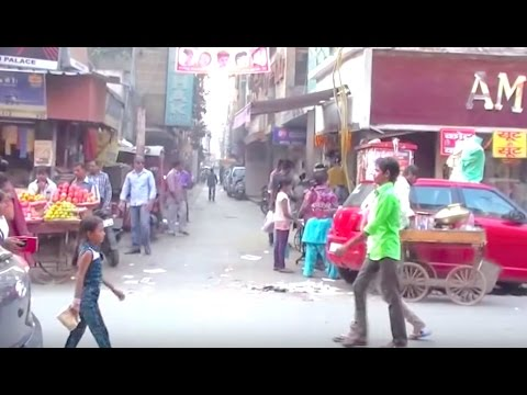 New Delhi Street Walk -  Arkashan Road Pahar Ganj - INDIA -  ASMR