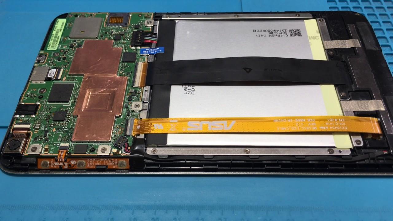 ASUS ME181C не запускается. Замена eMMC памяти.