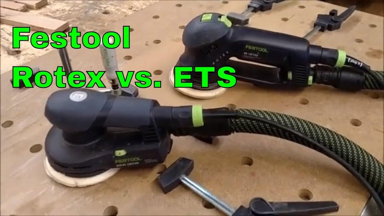 Wonderlijk Festool Rotex 125 vs Festool ETS 125 Random Orbital Sander - YouTube ET-82