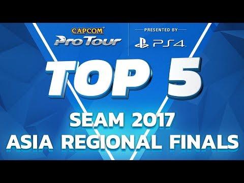 SFV: TOP 5 MOMENTS - SEAM 2017 - CPT 2017