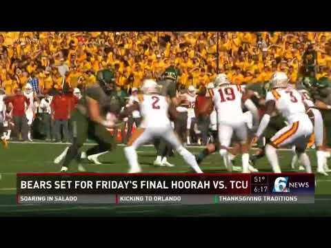 Bears set for Friday's final hoorah vs. TCU