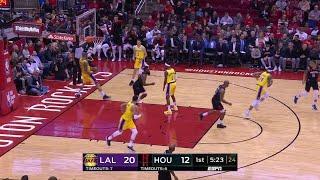 1st Quarter, One Box Video: Houston Rockets vs. Los Angeles Lakers