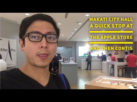 Makati City Hall a quick stop at the Apple Store and then Contis