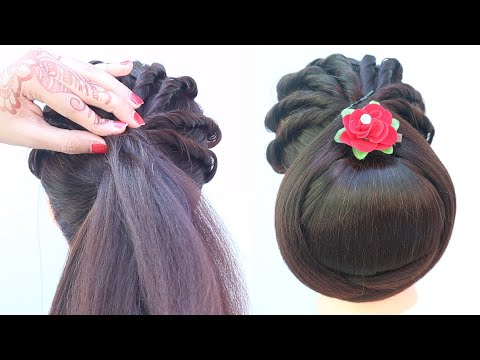 simple-juda-hairstyle-for-party-||-bun-hairstyle-||-updo-hairstyle-||-ladies-hair-style-||-hairstyle