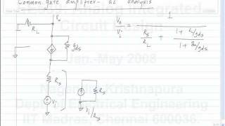 lecture 27 Common gate amplifier-ac analysis
